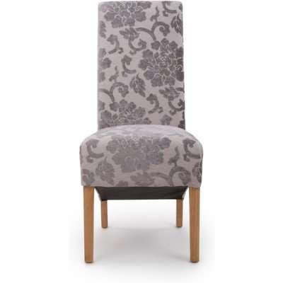 Krista Baroque Velvet Roll Back Dining Chairs