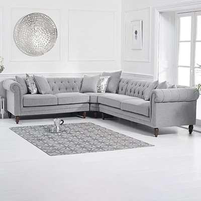 Limoges Medium Grey Linen Sofa