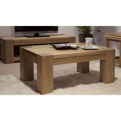 Milan 120cm Oak 4x2 Coffee Table