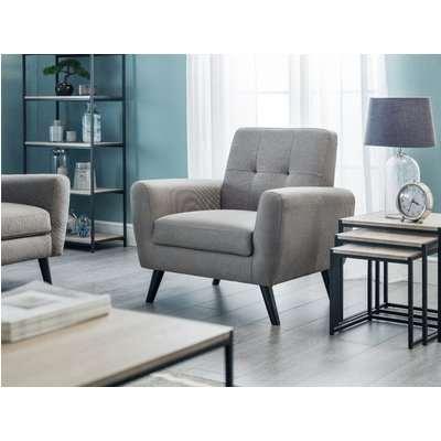 Monica Grey Linen Compact Retro Chair