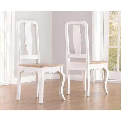 Parisian White Shabby Chic Dining Chairs