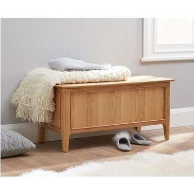 Sadie Oak Blanket Box
