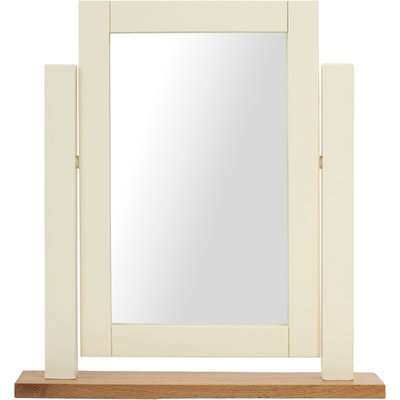 Somerset Oak and Cream Adjustable Dressing Table Mirror