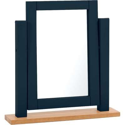 Somerset Oak and Blue Adjustable Dressing Table Mirror