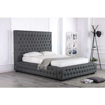 Stamford Grey Fabric Ottoman Super King Size Bed