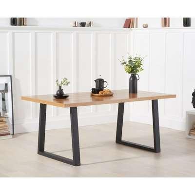 Urban 180cm Ash and Veneer Industrial Dining Table