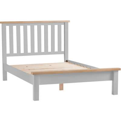 Willow Oak and Grey Single Bed Frame