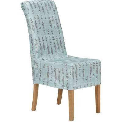 Amezrou Slip Cover For Echo Dining Chair - Pale Blue