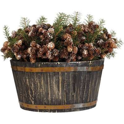 Basket of Christmas Pine Cones - Multi