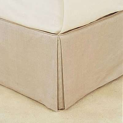 Bed Valance 100% Cotton, Double - Natural