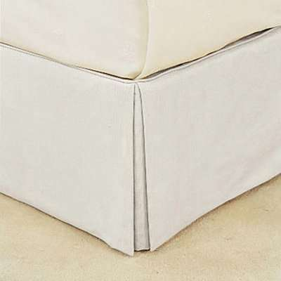 Bed Valance 100% Cotton, King Size - White