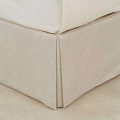 Bed Valance 100% Linen, King Size - Natural