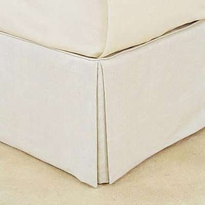 Bed Valance 100% Linen, Super King - White