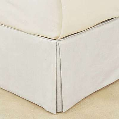 Bed Valance Cotton, Single - Off White
