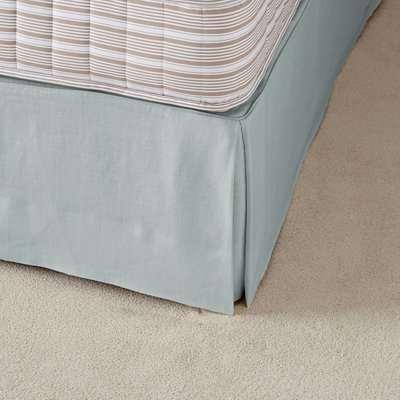 Bed Valance, Super King, 100% Linen - Grey Blue