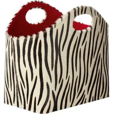 Bristow Magazine Basket - Zebra