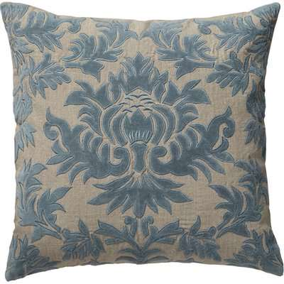Carlotta Cushion Cover, Large - Heron Blue