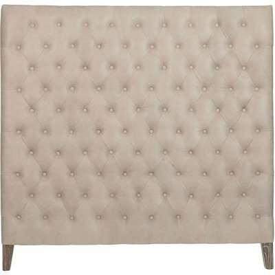 Chesterfield Leather High-Rise Headboard, Super King - China Clay
