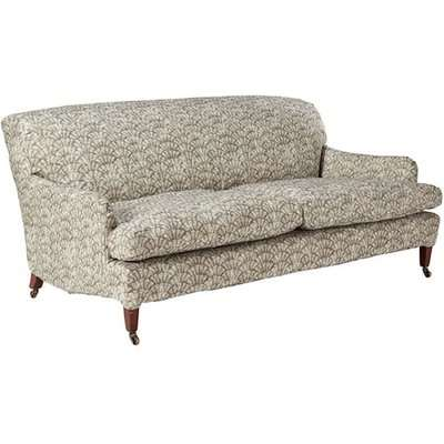 Coleridge 3 Seater Sofa Cover Chinese Fan Print - Taupe
