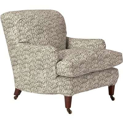 Coleridge Armchair Cover Chinese Fan Print Taupe