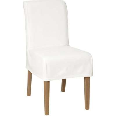 Cotton Slip Cover for Echo Low-Back Dining Chair - Off-White