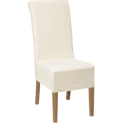 Echo Dining Chair - Weather Oak and Cotton Slip Cover - Off White