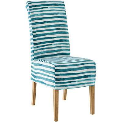 Echo Dining Chair - Weathered Oak and Malabar Slip - Teal