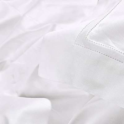 Elysium Flat Sheet Duvet and Pillow Set - Double Snow White