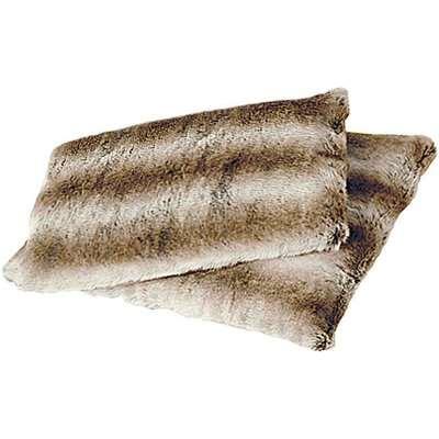 Faux Fur Pet Cushion Cover, Small - Pampas Fox