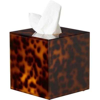 Faux Tortoiseshell Tissue Box Cover - Tortoiseshell