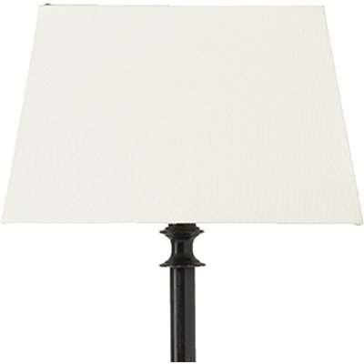 Full Rectangular Card Shade For Hooper Floor Lamp - White/Gold