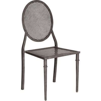 Greenwich Garden Chair, Wrought Iron - Brown