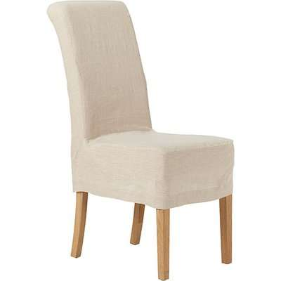 Guizhou Linen Slip Cover For Echo Dining Chair - Natural/Red