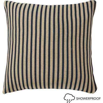 Kyuu Outdoor Cushion Cover and Pad, Large - Stripe - Navy