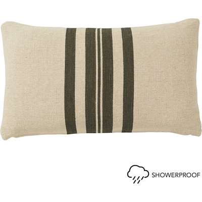 Kyuu Outdoor Cushion Cover and Pad, Small - Wide Stripe - Brown