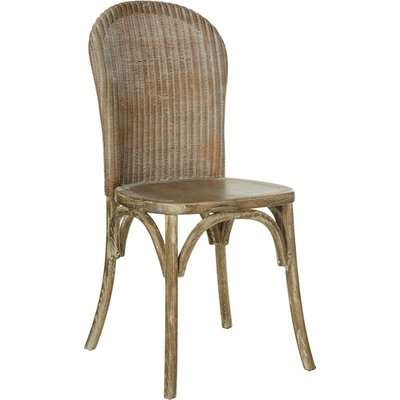 Lalee Chair - Natural and Leather Seat Pad - Aged Tobacco Leather