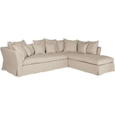 Lamorna Right Hand Corner Sofa - Natural Linen
