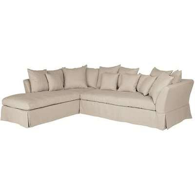 Lamorna Left Hand Corner Sofa  - Natural Cover Only