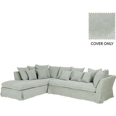 Left Hand Lamorna Corner Sofa  - Green Cover Only