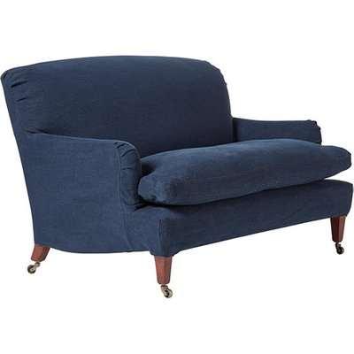 Linen Slipcover For Coleridge 2-Seater Sofa - Pure Navy