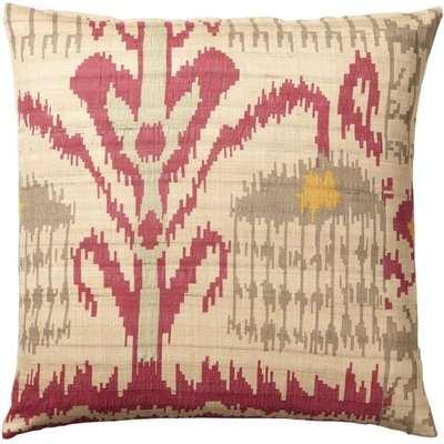 Madura Silk Cushion Cover, Large - Red