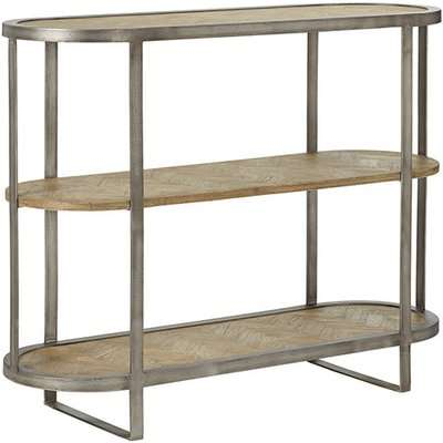 Manette Three-Tiered Console Table - Weathered Beech