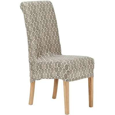 Naraan Linen Slip Cover For Echo Dining Chair - Black/Natural