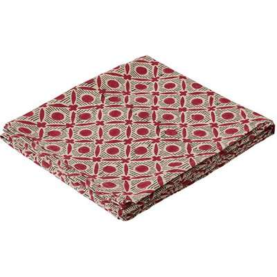 Nostell Diamonds Tablecloth - Red Madder