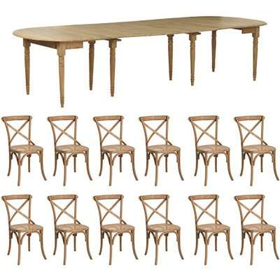Petworth Extending Table and Camargue Chair Dining Set - Multi