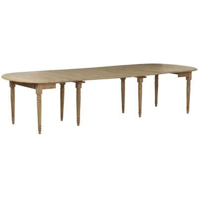 Petworth Extending Weathered Oak Dining Table - Wood