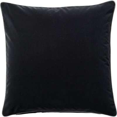 Plain Velvet Cushion Cover (51cmSq) - Charcoal