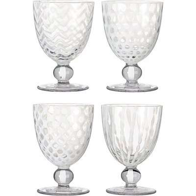 Pulcinella Small Wine Glasses, Set of Four - White