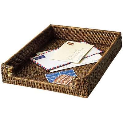 Rattan A4 Paper and Letter Tray