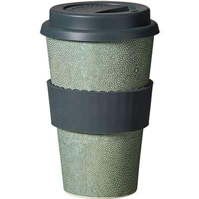 Shagreen Bamboo Travel Mug - Green